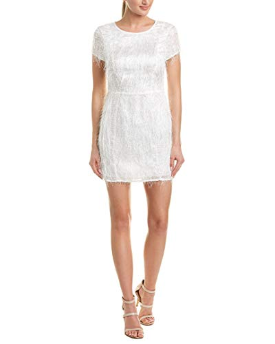 BCBGeneration Women's Cocktail Seamed Mini Woven Dress, Optic White 8