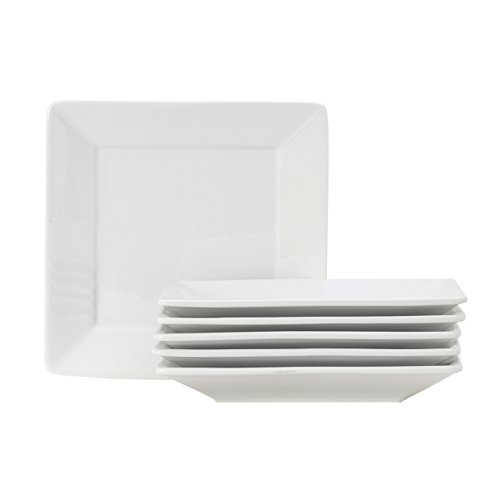Oven Safe Square Plates - Tuxton Home Santorini Square Plate 8 1/2