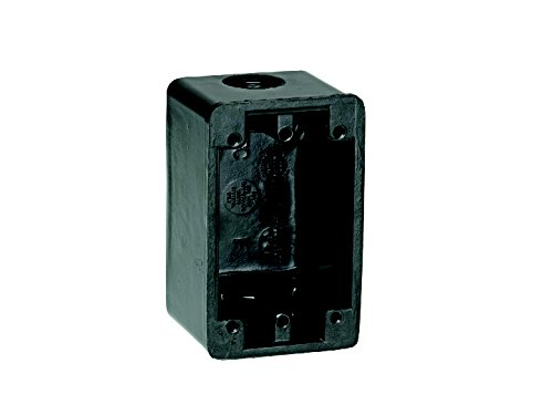 Woodhead 451 FS Outlet Box, Industrial Duty, 2 Knock Out Openings, Black, 3/4'' Thread Diameter
