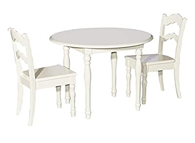Powell's Furniture 16Y1004 Table and 2 Chairs, Cream Youth,