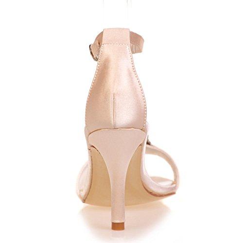 Evening Boda White L Mujeres yc 07a Toes Platform Zapatos Wedding Las High Peep Heels De 9920 La axHOqwIFO