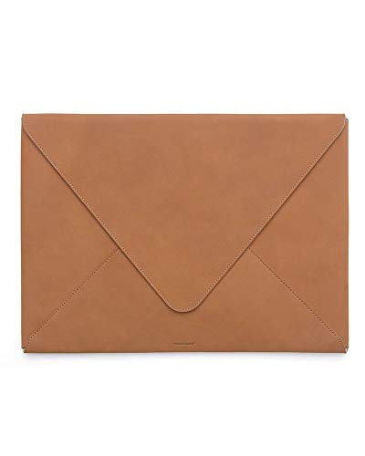 (RUSSELL+HAZEL Leather Envelope Laptop Bag- Camel)