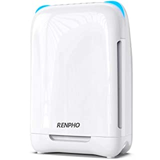 RENPHO Air Purifier for Home Bedroom Allergies and Pets Hair, True H13 HEPA Filter Air Purifier for Large Room 301 SQ.FT, Filters Pollen, Smoke, Dust, Pet Dander, Eliminates Germs, Mold, Odors, Ozone Free