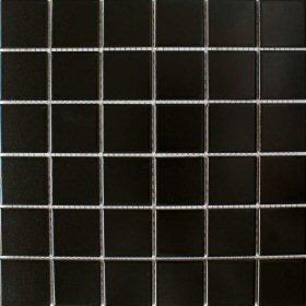 Matt Schwarz Square Large Fliesen X X Mm Porzellan - Bodenfliesen schwarz glanz