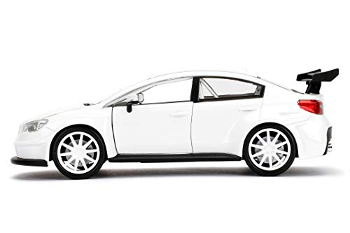 Jada Toys Fast & Furious 1:24 Mr. Little Nobody's Subaru WRX STI Die-cast Car, Toys for Kids and Adults, White (98296) 5