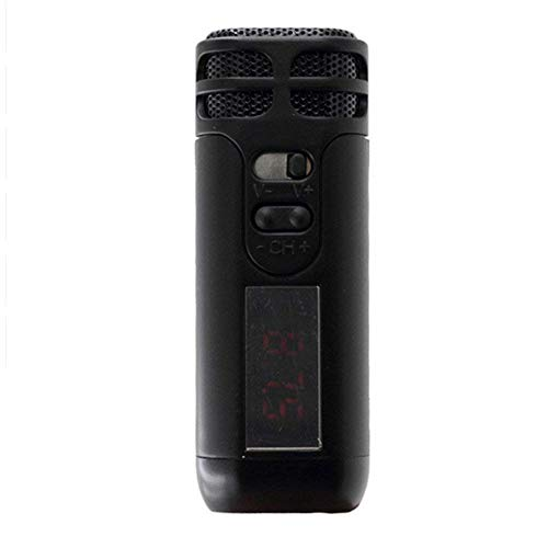 Yooha Mini Voice Amplifier, Handheld Wireless Microphone Loud Speaker Support FM Radio, 300mAh Rechargeable Battery, Capacitive Voice Amplifier for Teachers, Coaches, Salesman and More(Black)