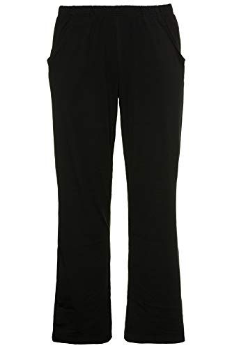 Ulla Popken Women's Plus Size Elastic Waist Bootcut Sports Pants Black 16/18 640831 10