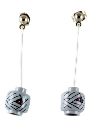 LEGO Mummy Head Dangle Earrings Jewelry