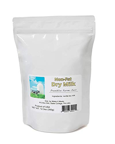 Powdered Non-Fat Dry Milk – 12.3oz packaged for long-term storage
