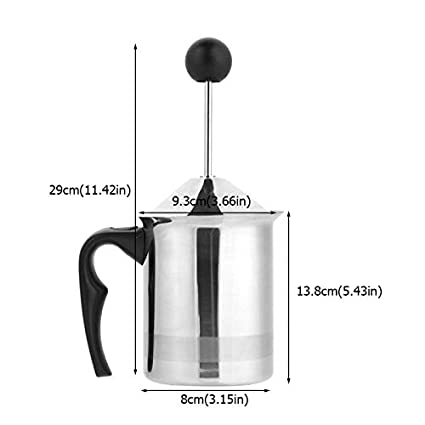 Amazon.com: Stainless Steel Manual Milk Frother Mixer Double ...