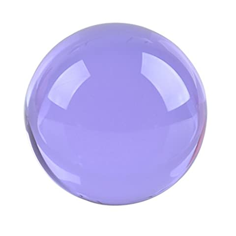 LONGWIN 40mm(1.6 inch) Fengshui Crystal Ball Healing Crystals(Purple) (Solid Glass Ball)