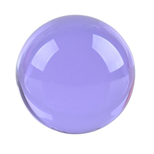 LONGWIN 60mm(2.3 inch) K9 Meditation Crystal Ball with Stand (Purple)