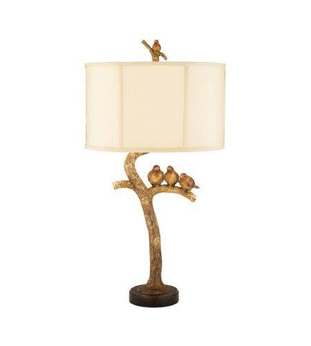 Amazon.com: Lámparas de Mesa 1 Luz con hojas de oro/negro ...