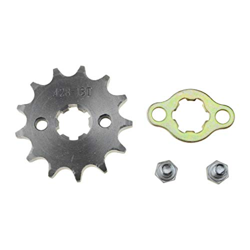 WOOSTAR Front Sprocket 428-13T 17mm for Motorcycle ()