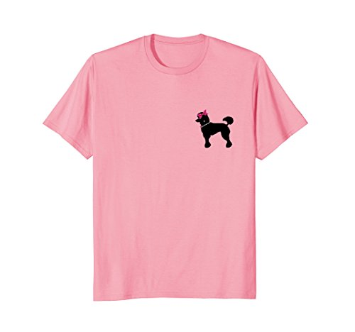 50's Posh Poodle T-Shirt with Pearls, Bows and Diamonds - Pearl Poodle