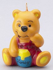 Winnie the Pooh Inspired Birthday Candle - Set of (Pooh Bear Honey)