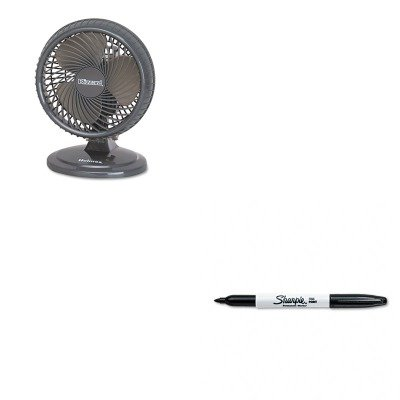 KITHLSHAOF87BLZUCSAN30001 - Value Kit - Holmes Lil' Blizzard 7amp;quot; Two-Speed Oscillating Personal Table Fan (HLSHAOF87BLZUC) and Sharpie Permanent Marker (SAN30001)