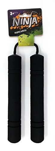 Ninja Toy Foam Nunchucks (Black)