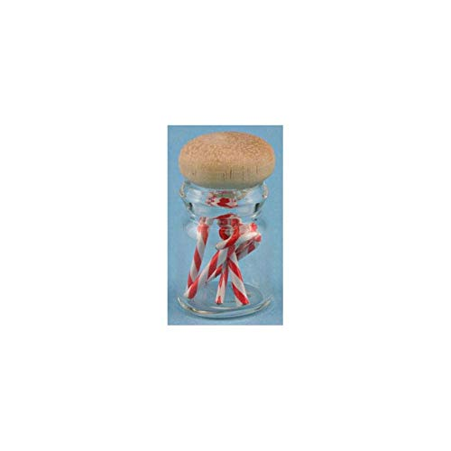 International Miniatures Dollhouse Miniature Candy Cane Jar
