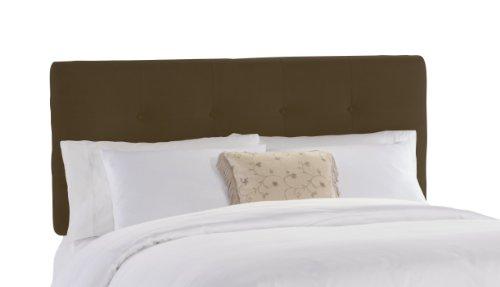Skyline Furniture Brown Tufted Bed - Skyline Furniture Belden Tufted King Headboard Upholstered in Velvet, Chocolate