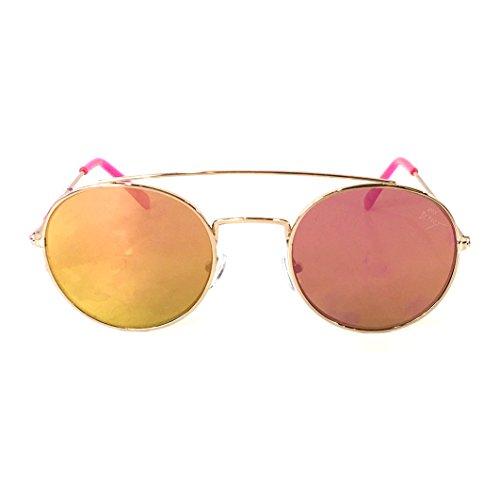 Betsey Johnson Women's Flash Mirrored Flat Round Aviator Sunglasses, - Sunglasses Johnson Aviator Betsey