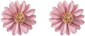 S-TING ピアス レディース イヤリング女性のヨーロッパとアメリカの小さな新鮮なデイジーの花のイヤリング気質シンプルなファッション野生の耳の宝石 誕生日 プレゼント