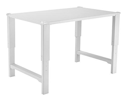 (VIVO White Height Adjustable Desk for Children | Kids Smart Interactive Ergonomic Sit Stand Work Station (DESK-V221))