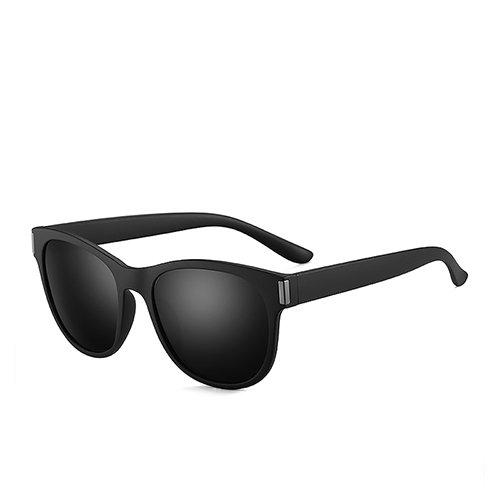 Lunettes TL Matte polarisées Guide noir Black hommes de Sunglasses Lunettes ovale soleil C2 Smoke de Voyage pour 4z4qg