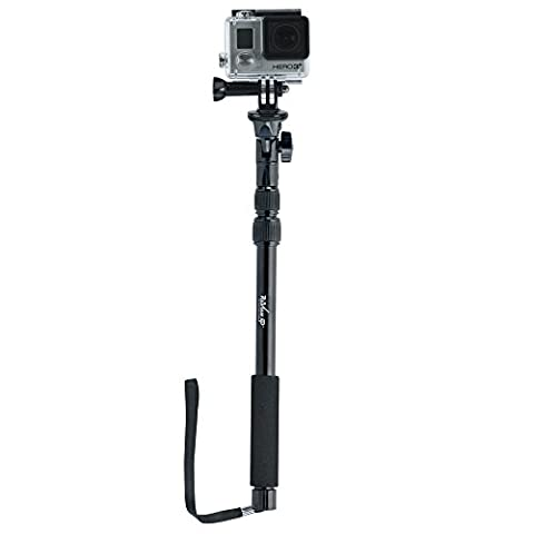 Review XP Selfie Stick Aluminum Waterproof Telescoping Monopole for Cell Phone, GoPro Cameras (Magnet For Mod)