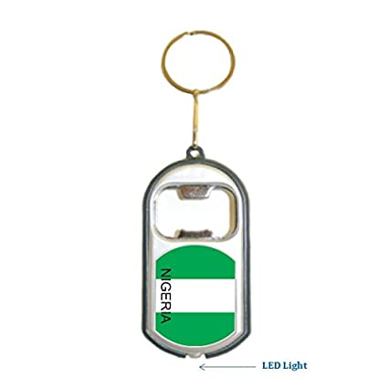 Amazon.com: Nigeria Bandera 3 en 1 abrebotellas Luz LED ...