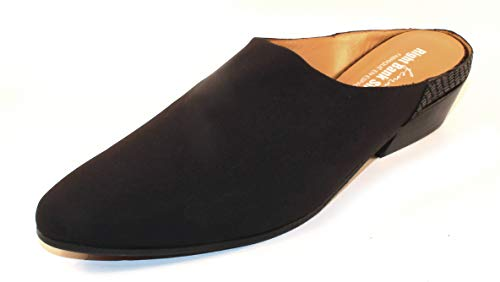 - Right Bank Shoe Co Women's Madam in Black Silk Elastic/Reptile Embossed Leather - Size 10 M