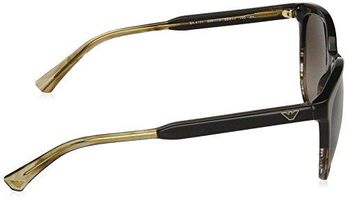 Armani EA4101 Sonnenbrille Emporio Striped Tr Beige Brown 556713 pxHndE6
