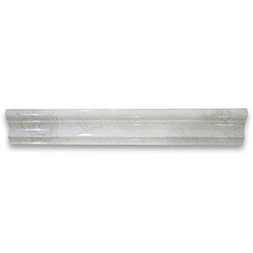 crema marfil spanish marble chair rail trim molding 2 x 12 polished