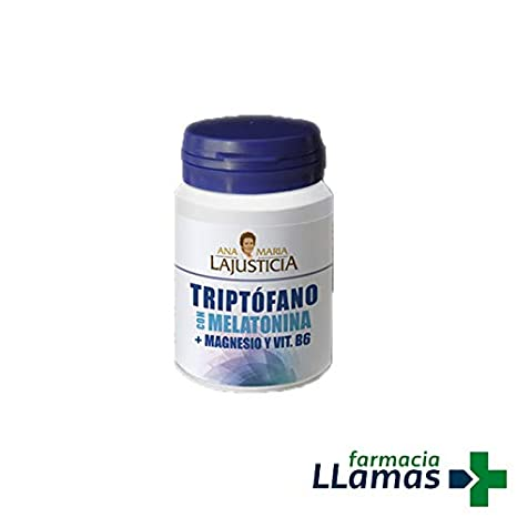 Ana Maria Lajusticia TRIPTOFANO CON MELATONINA + MAGNESIO Y VITAMINA B6 ANAMARIA LAJUSTICIA 60 COMPRIMIDOS: Amazon.es: Salud y cuidado personal