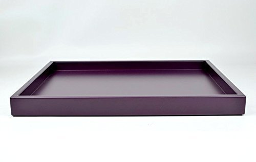 Decorative Large Ottoman Tray Coffee Table Decor Dark Purple