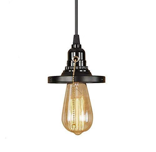 Led Ceiling lamp Chandelier Chandeliers Chandelier,Loft Retro Iron schwarz Pendant Lamp LED E27 Simple Hanging lamp with Switch for Living Room Bedroom Kitchen Bar Restaurant