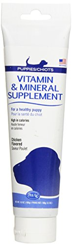 PetAg Vitamin and Mineral Supplement for Puppies Chicken Gel, 3-1/2-Ounce