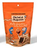 Michel et Augustin Chocolate French Cookie Squares   Milk Chocolate Caramel Pure Butter Shortbread   15 Count Pouches