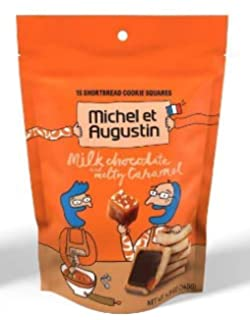 Michel et Augustin Chocolate French Cookie Squares | Milk Chocolate Caramel Pure Butter Shortbread | 15