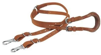 Weaver Leather CRUPPER,W//DOUBLE STRAP,RUSSET