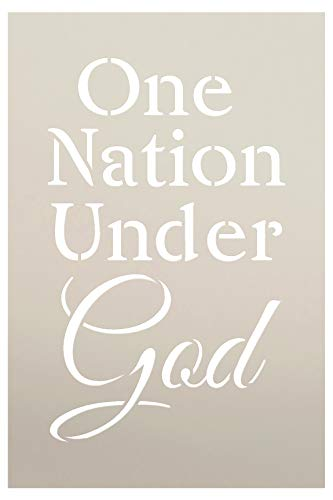 One Nation Under God Stencil by StudioR12   Patriotic Word Art - Reusable Mylar Template   Painting, Chalk, Mixed Media   Use for Journaling, DIY Home Decor - STCL1246 (8