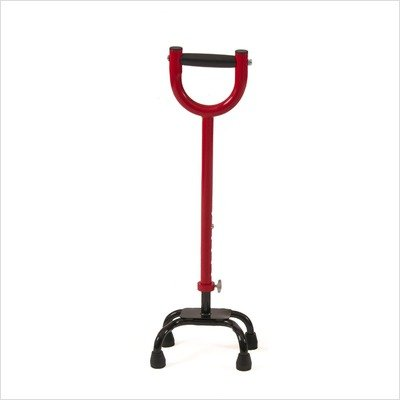 Youth Quad Cane Color: Red