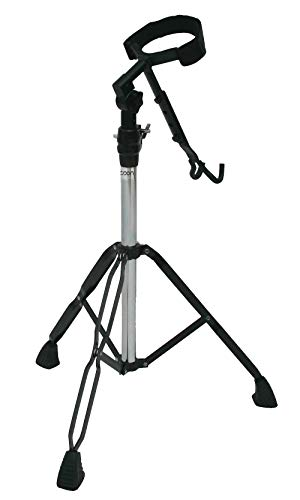 Stand Percussion Djembe (Tycoon Percussion Black Powder Coated Djembe Stand)