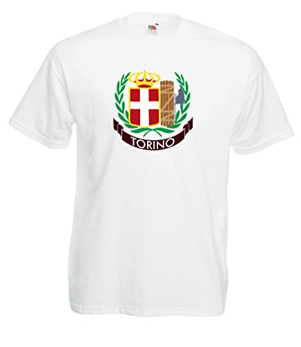 Settantallora - T-shirt Maglietta J1525 Stemma Torino Campione d'Italia 1943 Taglia XL