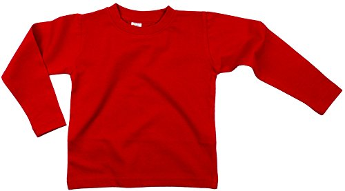 Earth Elements Baby Girls' Long Sleeve T-Shirt 12-18 Months Red