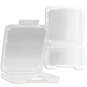 eTECH Collection 10 Pack of Clear Plastic CF/Compact Flash Memory Card Case Holder for SanDisk/Kingston/Transcend/Samsung Memory Card (Plastic Case Only, Memory Card Not Included) -- Shipping From USA