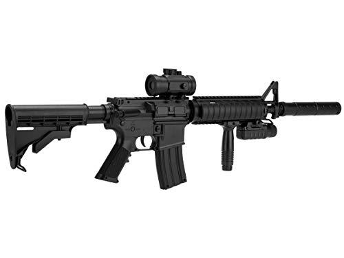 Double Eagle Airsoft-M83 A2 Style M4 ABS/Couleur Noir/électrique (0.5 Joule)-Semi/Full Automatique-livré avec… 2