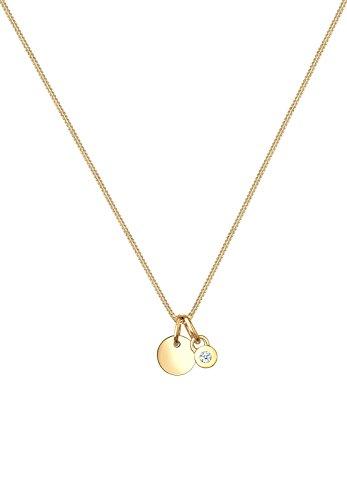 Diamore Femme  14carats (585/1000)  Or jaune|#Gold Balle   Blanc Diamant