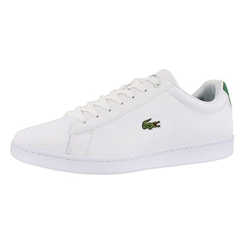 Lacoste Men's Hydez 118 1 P Fashion Sneaker WHT/GRN 10.5 M (Grn Mens Sneakers)