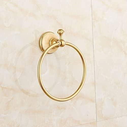 Anillo de toalla Toalleros toalla montado en la pared del anillo de múltiples funciones de la barra de toalla de baño for la cocina de la suspensión toalla de baño de oro de cobre Jade Toallero